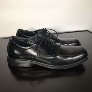 "Skechers ""Caswell"" black Leather Relaxed Fit Sz 14"
